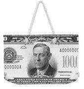 Currency: 100,000 Dollar Bill Weekender Tote Bag