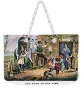 Currier  Ives Folk Tradition Weekender Tote Bag by Granger