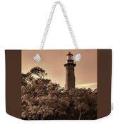 Currituck Beach Lighthouse - Sepia Weekender Tote Bag