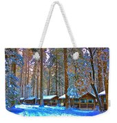 Curry Cabins Christmas Day Weekender Tote Bag