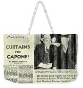 Curtains For Capone Weekender Tote Bag