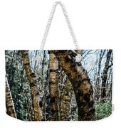 Curved Birch Tree Weekender Tote Bag