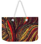 Curved Lines 3 Weekender Tote Bag by Sarah Loft