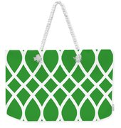 Curved Trellis With Border In Dublin Green Weekender Tote Bag