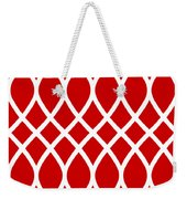 Curved Trellis With Border In Red Weekender Tote Bag