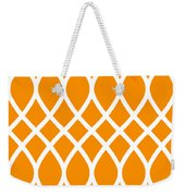 Curved Trellis With Border In Tangerine Weekender Tote Bag