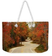 Curvy Fall Weekender Tote Bag