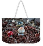 Cluster Of Toadstools  In Fairy Garden Weekender Tote Bag
