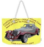 Custom Tee Shirts Weekender Tote Bag