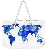 Custom World Map Weekender Tote Bag