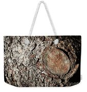 Cut Branch On Tree Trunk Weekender Tote Bag