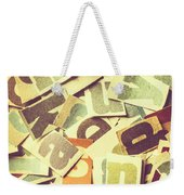 Cut Copy Weekender Tote Bag