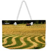 Cut Hay In Field Weekender Tote Bag