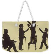 Cut Silhouette Of Four Full Figures 1830 Weekender Tote Bag