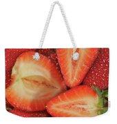 Cut Strawberries Weekender Tote Bag