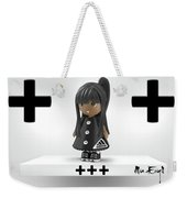 Cute 3d Girl On Shelf In Black Weekender Tote Bag