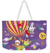 Cute Animals In Air Balloon Weekender Tote Bag