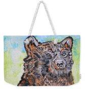 Cute Baby Black Bear Art Weekender Tote Bag