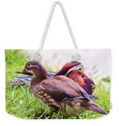 Cute Couple - Mandarin Ducks Weekender Tote Bag