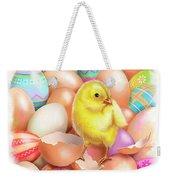 Cute Easter Chick Weekender Tote Bag