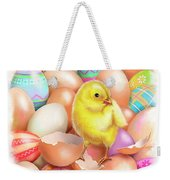 Cute Easter Chick Weekender Tote Bag
