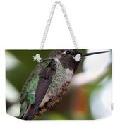 Cute Hummingbird Ready For Action Weekender Tote Bag