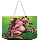 Cute Little Pink Dragon Weekender Tote Bag
