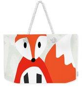 Cute Red And White Fox- Art By Linda Woods Weekender Tote Bag