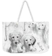 Cute White Salukis With Puppies Weekender Tote Bag
