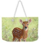 Cute Whitetail Deer Fawn Weekender Tote Bag