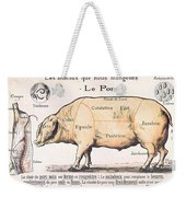 Cuts Of Pork Weekender Tote Bag