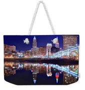 Cuyahoga Reflecting The City Above Weekender Tote Bag