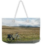 Cycle Across The Beacons Cycle Route. Weekender Tote Bag