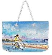 Cycling In Port De Pollenca In Majorca Weekender Tote Bag