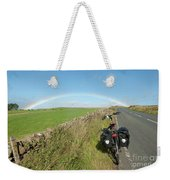 Cycling To The Rainbow Weekender Tote Bag