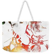 Cyndi Lauper Watercolor Weekender Tote Bag