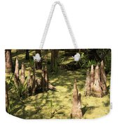 Cypress Knees In Green Swamp Weekender Tote Bag