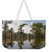 Cypress Trees And Spanish Moss In Lake Martin Weekender Tote Bag