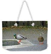 D-a0048 Mallard Ducks In Our Yard Weekender Tote Bag