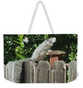 D-a0071-e-dc Gray Squirrel On Our Fence Weekender Tote Bag