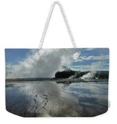 D09130-dc Cloud And Steam Reflect Weekender Tote Bag