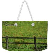 D7b6306 Fence And Poppies Weekender Tote Bag