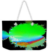 Da Mountain Sail In Fractal Weekender Tote Bag