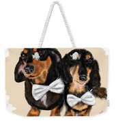 Dachshunds And Bowties Weekender Tote Bag