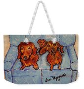 Dachshunds And Netflix  Weekender Tote Bag