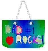 Dad Rocks Weekender Tote Bag by Raul Diaz
