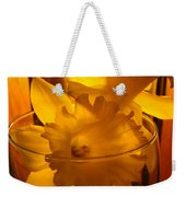 Daffodiil Flowers Evening Glow 9 Contemporary Modern Art Print Giclee Weekender Tote Bag