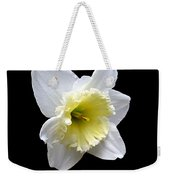 Daffodil On Black Weekender Tote Bag