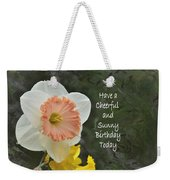 Daffodil Peach And Yellow Birthday  Weekender Tote Bag