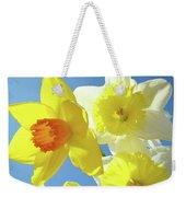 Daffodils Art Print Floral Sky Bouquet Daffodil Flower Baslee Weekender Tote Bag